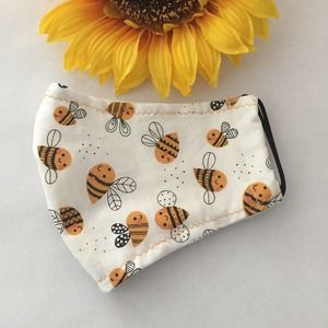 Kids Face Mask Bees Print Ages 6-11